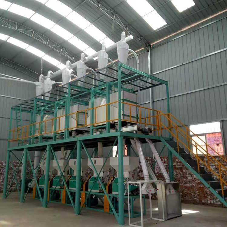 玉米芯磨粉机工作流程